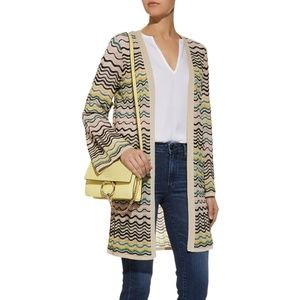 M Missoni Lurex Wave Knit Cardigan Bell Sleeves